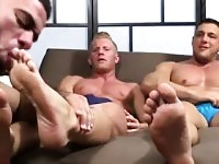 Men rubbing men feet gay Ricky Hypnotized To Worship Johnny