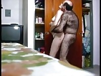 Very hairy old man fucking his wife