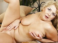 chubby milf alone at home.