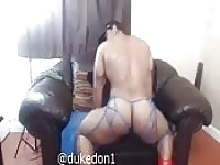 Bodybuilder showing his ass in home made video